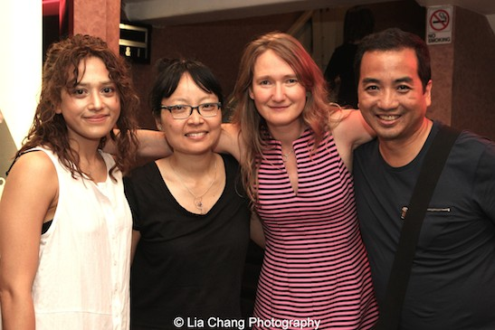 Freya Adams, Jennifer Phang, Melanie Matthews and Robert Chang at a screening of Advantageous at Cinema Village in New York on June 26, 2015. Photo by Lia Chang