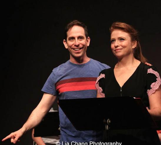 Garth Kravits as Mitchell Mulligan and Maxine Linehan as Tina Truesdale in the staged reading of Grounded for Life at The York in New York on June 26, 2015. Photo by Lia Chang