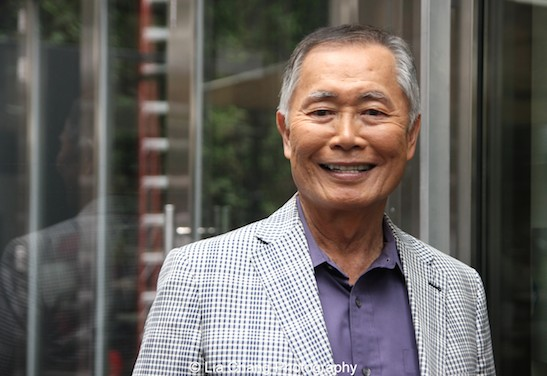Allegiance's George Takei at The Strand Bistro in New York on June 25, 2015. Photo by Lia Chang