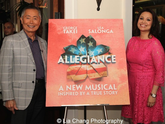 Allegiance stars George Takei and Lea Salonga at The Strand Bistro in New York on June 25, 2015. Photo by Lia Chang