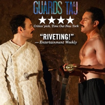Arian Moayed and Omar Metwally in Atlantic Theater Company's world premiere of Rajiv Joseph's Guards at the Taj. Photo by Doug Hamilton