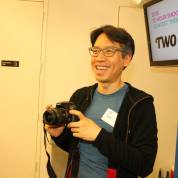 Filmmaker J. P. Chan at the 72 Hour Shootout Launch party at The Korea Society in New York on June 4, 2015. Photo by Lia Chang