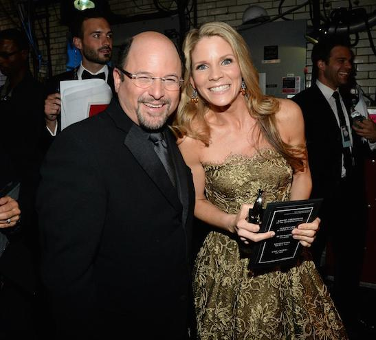Jason Alexander and Tony Award winner Kelli O'Hara at the 2015 Tony Awards at Radio City Music Hall on June 7, 2015 in New York City. Photo courtesy of The Tony Awards/Facebook