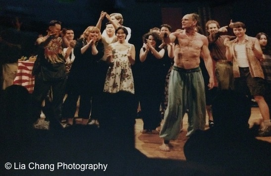 Jeff Weiss and the cast of Hot Keys at PS 122 in New York in 1993. Photo courtesy of Lia Chang