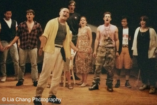 Jeff Weiss and the cast of Hot Keys at PS 122 in New York in 1993. Photo by Lia Chang