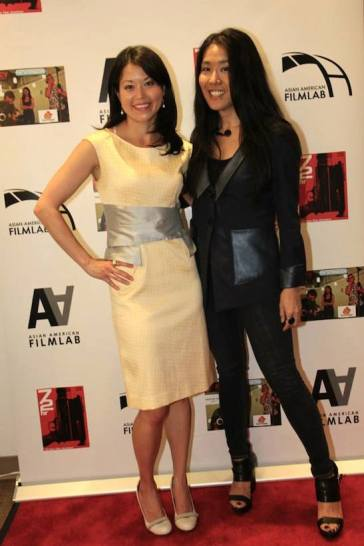 Asian American Film Lab president Jennifer Betit Yen and director Bertha Bay-Sa Pan at the 72 Hour Shootout Launch party at The Korea Society in New York on June 4, 2015. Photo by Lia Chang