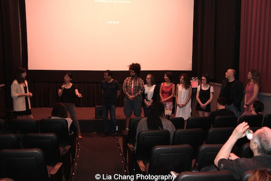 The Verge's Emily Yoshida, director Jennifer Phang and team Advantageous at the opening night screening of Advantageous at Cinema Village in New York on June 26, 2015. Photo by Lia Chang