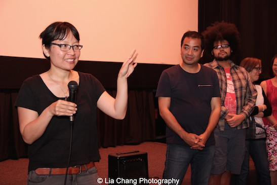 Director Jennifer Phang and producer Robert Chang at the opening night screening of Advantageous at Cinema Village in New York on June 26, 2015. Photo by Lia Chang