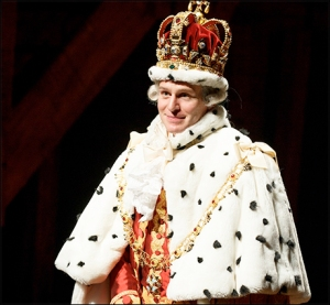 Jonathan Groff returns as King George for HAMILTON. Photo by Joan Marcus
