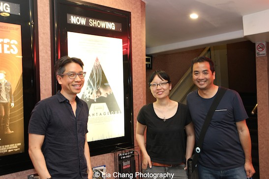 Filmmakers J.P. Chan, Jennifer Phang and producer Robert Chang at a screening of Advantageous at Cinema Village in New York on June 26, 2015. Photo by Lia Chang