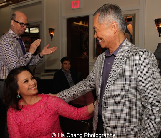 Allegiance stars Lea Salonga and George Takei at The Strand Bistro in New York on June 25, 2015. Photo by Lia Chang