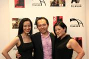 Lia Chang, Nick Sakai and Erin Quill at the 72 Hour Shootout Launch party at The Korea Society in New York on June 4, 2015. Photo by Lia Chang