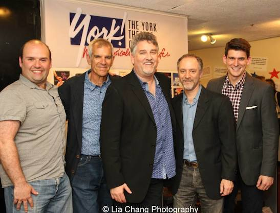 Musical director Matt Perri, Grounded for Life creators Bill Habeeb, Pat Hazell and Lawrence Goldberg, and director Patrick O'Neill at The York in New York on June 26, 2015. Photo by Lia Chang