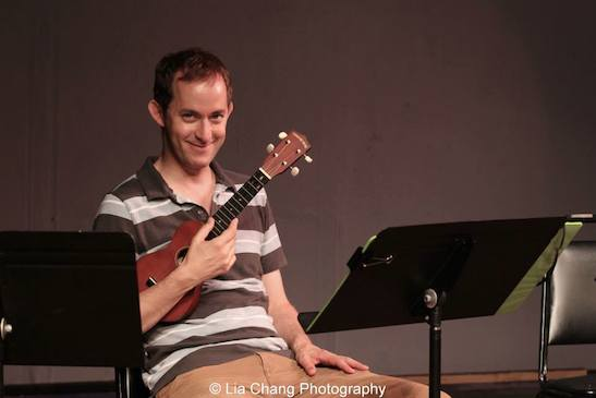 Michael Keyloun as Ernie McKeever during rehearsal of the staged reading of Grounded for Life at The York in New York on June 26, 2015. Photo by Lia Chang
