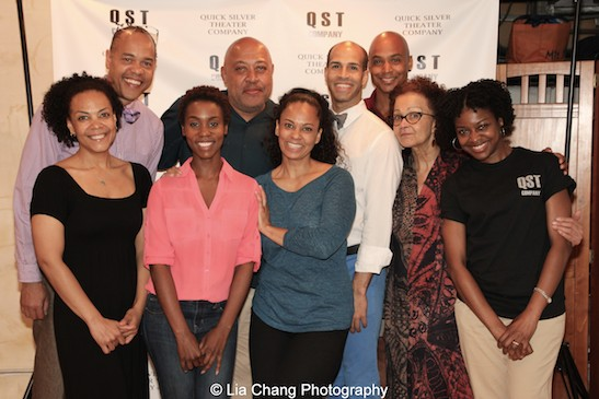 Quick Silver Theater Company members Rachel Leslie, Tyrone Mitchell Henderson, Joniece Abbott Pratt, Keith Randolph Smith, Mafeesa Monroe, Jody Reynard, Curtis Wiley, Lizan Mitchell and Pascale Armand. Photo by Lia Chang