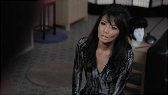 Tamlyn Tomita (Tamlyn) in a scene from the feature film National Film Society presents AWESOME ASIAN BAD GUYS releasing June 23, 2015