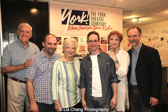 Actor Garth Kravits (center) with The Goldbergs after the performance of Grounded for Life at The York in New York on June 26, 2015. Photo by Lia Chang