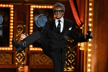 Tommy Tune accepting a 2015 Tony Honors for Lifetime Achievement in the Theater. Credit: Theo Wargo/Getty Images