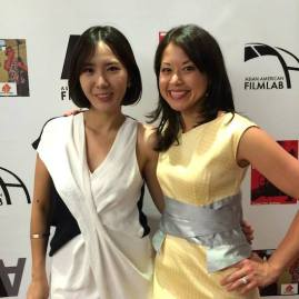 72 Hour Shootout coordinator Youn Jung Kim and Asian American Film Lab president Jennifer Betit Yen at the 72 Hour Shootout Launch party at The Korea Society in New York on June 4, 2015. Photo by Lia Chang