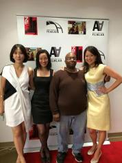 72 Hour Shootout coordinator Youn Jung Kim, Lia Chang, Christopher Bourne and Asian American Film Lab president Jennifer Betit Yen at The Korea Society in New York on June 4, 2015. Photo by GK