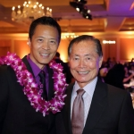 Producing Artistic Director Tim Dang and EWP Council of Governors Chair George Takei at the 2014 APAA Scholarship and Awards Gala held at The Langham Huntington in Pasadena on April 11, 2014. Photos courtesy of Charles Uy.