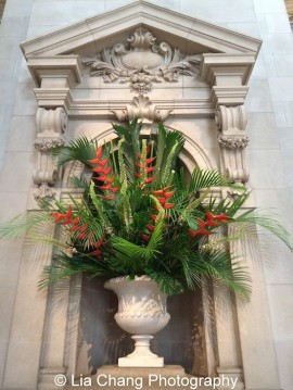 The Met's weekly floral arrangements are funded by a gift from Reader's Digest co-founder Lila Acheson Wallace. Photo by Lia Chang #emptymet