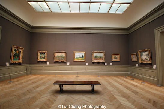 Paintings by Vincent Van Gogh, Georges Seurat, Georges Braque on view at The Metropolitan Museum of Art. Photo by Lia Chang #emptymet