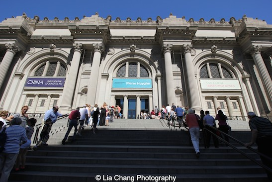 The lines to get into The Met as I left at 10:00 A.M. Photo by Lia Chang