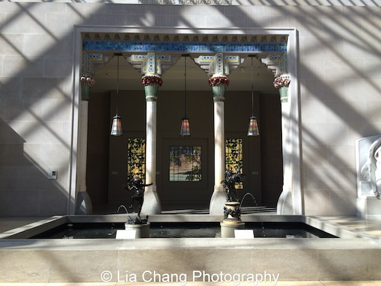 The exotic entrance loggia designed by Louis C. Tiffany for Laurelton Hall, his country estate on Long Island in the Charles Engelhard Court at The Metropolitan Museum of Art. Photo by Lia Chang #emptymet
