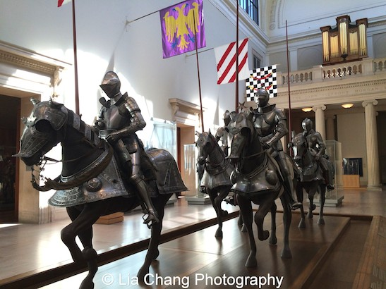 Emma and Georgina Bloomberg Arms and Armor Court at The Metropolitan Museum of Art. Photo by Lia Chang #emptymet