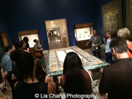 First Chief Digital Officer Sree Sreenivasan gives an #emptymet tour at The Metropolitan Museum of Art. Photo by Lia Chang
