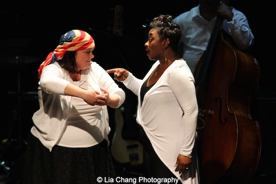 Kimberly Lawson and Donica Lynn in CONFESSIONS OF A P.I.M.P. in Victory Gardens' 2015 IGNITION Festival of New Plays in Chicago on July 16, 2015. Photo by Lia Chang
