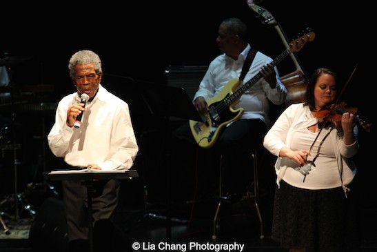 André De Shields, Tony Mhoon and Kimberly Lawson in CONFESSIONS OF A P.I.M.P. in Victory Gardens' 2015 IGNITION Festival of New Plays in Chicago on July 16, 2015. Photo by Lia Chang