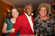 André De Shields with costume designer Cookie Gluck and her daughter at the opening night party of Victory Gardens Theater's 2015 IGNITION Festival of New Plays in Chicago on July 16, 2015. Photo by Lia Chang