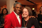 André De Shields and guest at the opening night party of Victory Gardens Theater's 2015 IGNITION Festival of New Plays in Chicago on July 16, 2015. Photo by Lia Chang