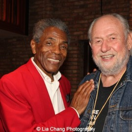 André De Shields and Dennis Zacek at the opening night party of Victory Gardens Theater's 2015 IGNITION Festival of New Plays in Chicago on July 16, 2015. Photo by Lia Chang