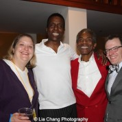 Tina Jach, Robert Cornelius, André De Shields and Chris Mannelli at the opening night party of Victory Gardens Theater's 2015 IGNITION Festival of New Plays in Chicago on July 16, 2015. Photo by Lia Chang