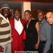 Aaron C. Holland, André De Shields, Lili-Anne Brown, Toma Langston and Will Green at the opening night party of Victory Gardens Theater's 2015 IGNITION Festival of New Plays in Chicago on July 16, 2015. Photo by Lia Chang