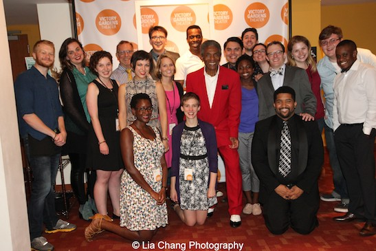 André De Shields and the Victory Gardens staff at the opening night party of Victory Gardens Theater's 2015 IGNITION Festival of New Plays in Chicago on July 16, 2015. Photo by Lia Chang
