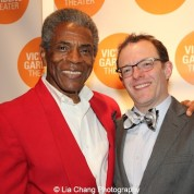 André De Shields and Chris Mannelli, Managing Director, Victory Gardens Theater, at the opening night party of Victory Gardens Theater's 2015 IGNITION Festival of New Plays in Chicago on July 16, 2015. Photo by Lia Chang