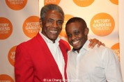 André De Shields and director Samuel G. Roberson at the opening night party of Victory Gardens Theater's 2015 IGNITION Festival of New Plays in Chicago on July 16, 2015. Photo by Lia Chang