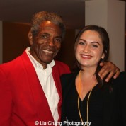 André De Shields and Talia Weingarten, Literary and Public Programs Assistant, Victory Gardens Theater, at the opening night party of Victory Gardens Theater's 2015 IGNITION Festival of New Plays in Chicago on July 16, 2015. Photo by Lia Chang