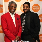 André De Shields and Monty Cole, Artistic Programs Manager, Victory Gardens Theater, at the opening night party of Victory Gardens Theater's 2015 IGNITION Festival of New Plays in Chicago on July 16, 2015. Photo by Lia Chang
