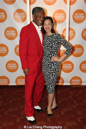 André De Shields and Lia Chang at the opening night party of Victory Gardens Theater's 2015 IGNITION Festival of New Plays in Chicago on July 16, 2015. Photo by Talia Weingarten