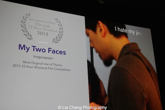 "My Two Faces by ""Inspirasian"" (Top Ten Film; Most Original Use of Theme). Photo by Lia Chang"