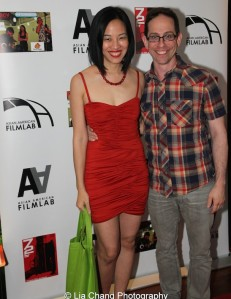 Hide and Seek filmmakers Lia Chang and Garth Kravits at the 11th Annual 72 Hour Shootout Red Carpet Awards Ceremony and wrap party at The Azure in New York on July 25, 2015. Photo by Erin Quill