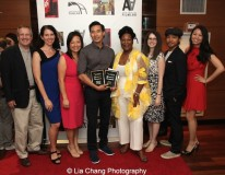 """Finding You by """"The Perfect Asian Pear"""" (Top Ten Film; Best Actor, Grant Chang; Best Director, Grant Chang) and his team at the 11th Annual 72 Hour Shootout Red Carpet Awards Ceremony at The Azure in New York on July 25, 2015. Photo by Lia Chang. Photo by Lia Chang"""