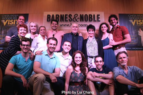 A reunion for the cast of 'The Visit' at 'The Visit' CD signing at Barnes & Noble, 86th & Lexington on July 9, 2015 in New York City. Photo by Lia Chang