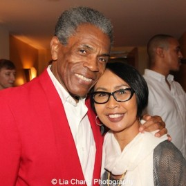André De Shields with Emilya Cachapero, Director of Artistic and International Programs, Theatre Communications Group at the opening night party of Victory Gardens Theater's 2015 IGNITION Festival of New Plays in Chicago on July 16, 2015. Photo by Lia Chang