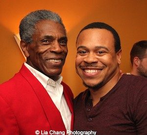 André De Shields and Wardell Julius Clark at the opening night party of Victory Gardens Theater's 2015 IGNITION Festival of New Plays in Chicago on July 16, 2015. Photo by Lia Chang